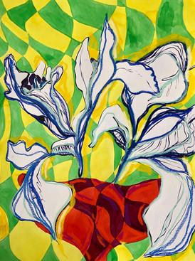Psychedelic Irises