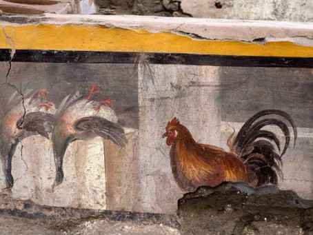 2,000-year-old snack stall, painted in bright frescoes found in Pompeii