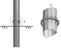 Металлический фундамент из сваи-оболочки
