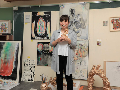 共同スタジオ 熊本県 菊池市旧龍門小学校アーティストスタジオの様子
