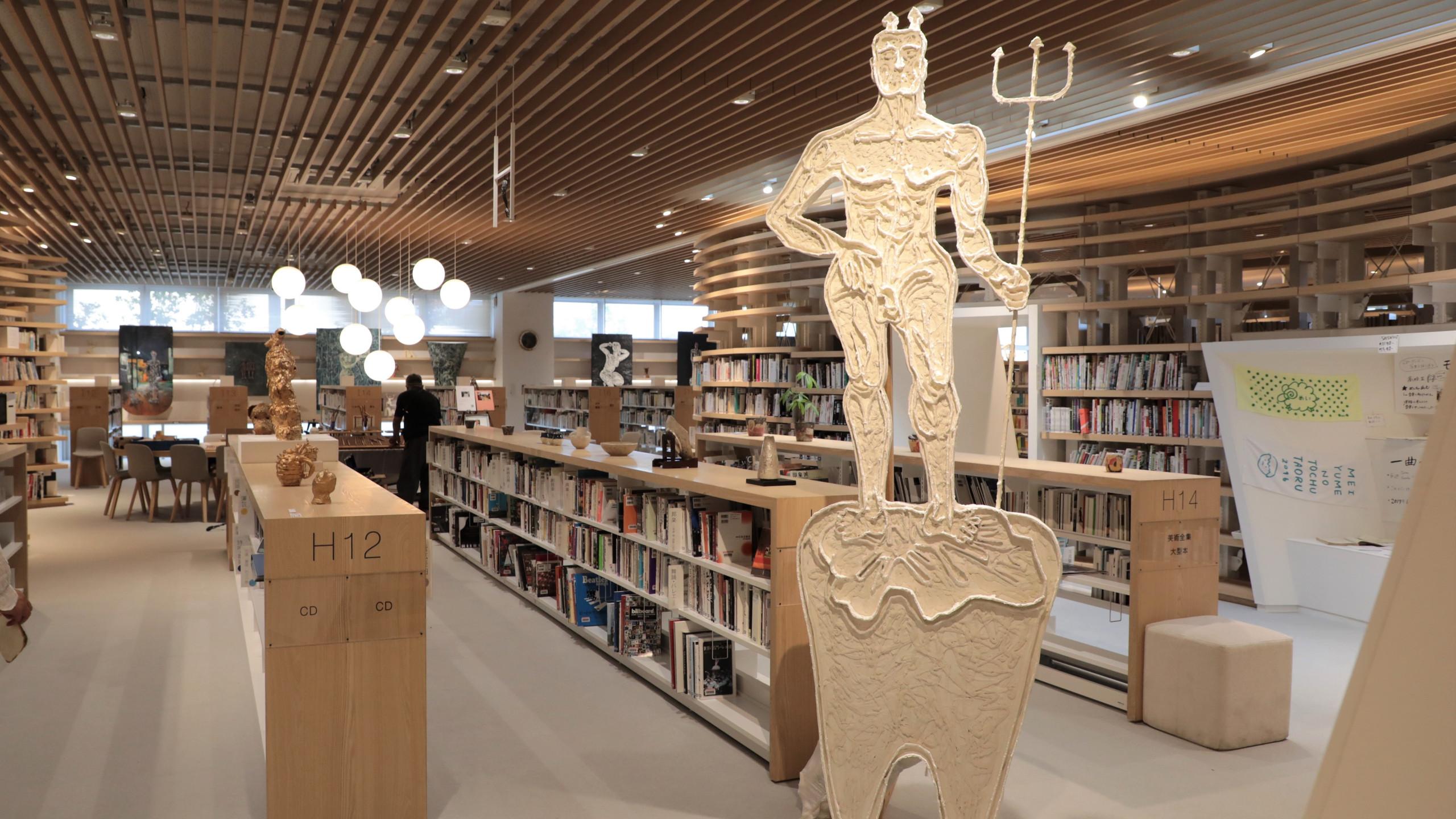 一階図書館の展示の様子