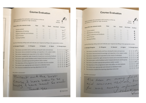 Positive First Aid Training Course Feedback