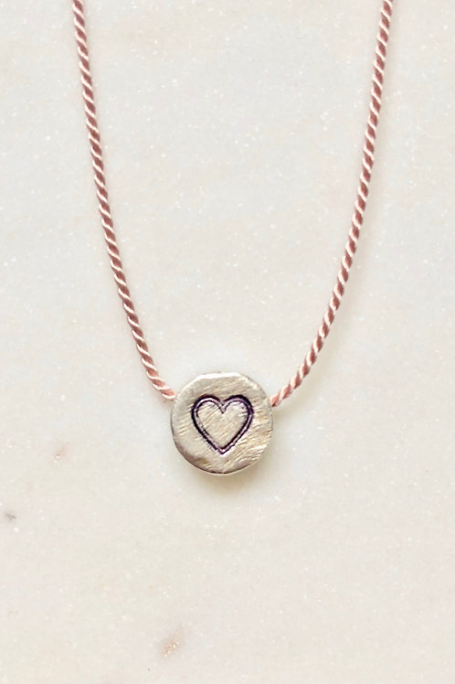 Guard Your Heart Hand Stamped Disc Necklace