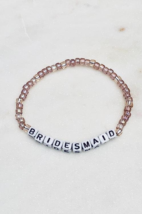 Bridesmaid Block Letter WORD Bracelet