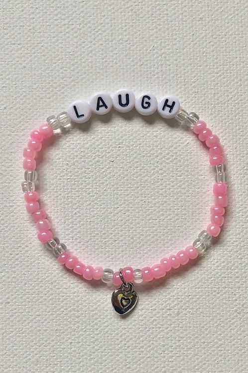 Bubble Letter Word Bracelet + Charm