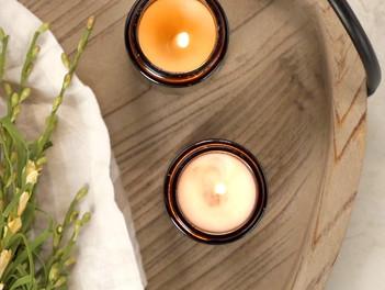 Homemade Lemon and Eucalyptus Candle...