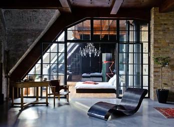 Beautiful and grandious loft design