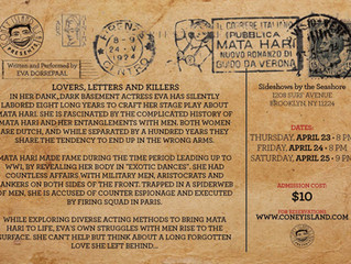 Almost Mata Hari - Lovers, Letters & Killers to Perform at Coney Island USA in Brooklyn, NY