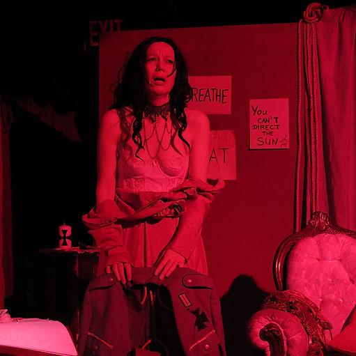 Eva Dorrepaal as Mata Hari in her one-man-show: Almost Mata Hari - Lovers, Letters and Killers