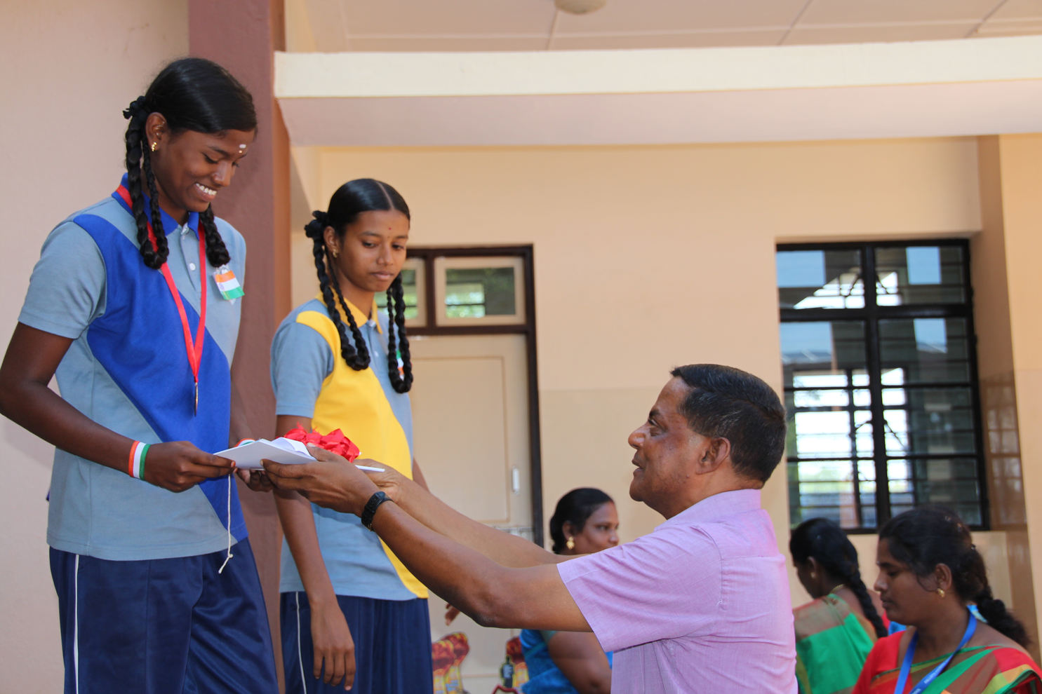 Winners receiving medals