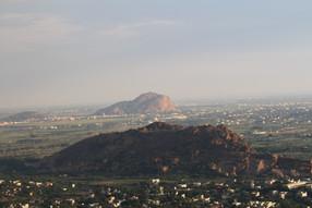View of Kilakuilkudi and Tiuparankundram