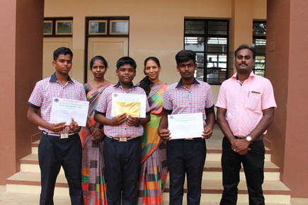 The winners with Principal and  Science