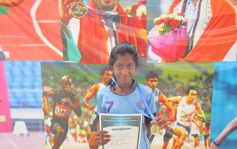 J. Devadharshini – VIII std – 2nd Prize in 400m running