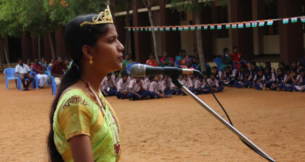 As freedom fighter Velu Nachiyar