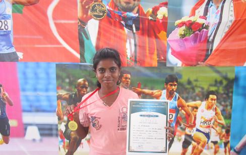 A. Bhavana  – XI std – 1st Prize in 1500m running