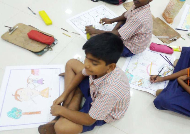 Drawing Competition held on 18-07-2018