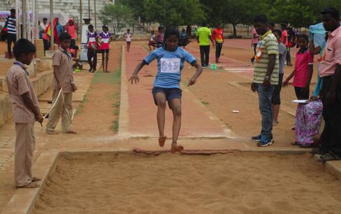 J. Devadharshini - 2nd prize in long jump