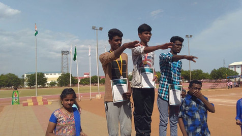 A. Abinesan-11th std - 1st prize and M.