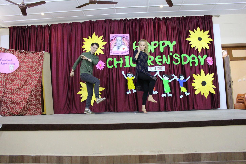 Dancing Volunteers -Lukas and Fiona