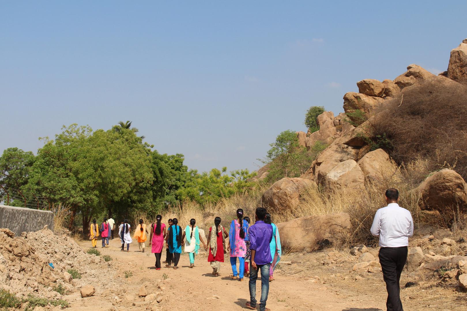 Trekking to Jain Hill