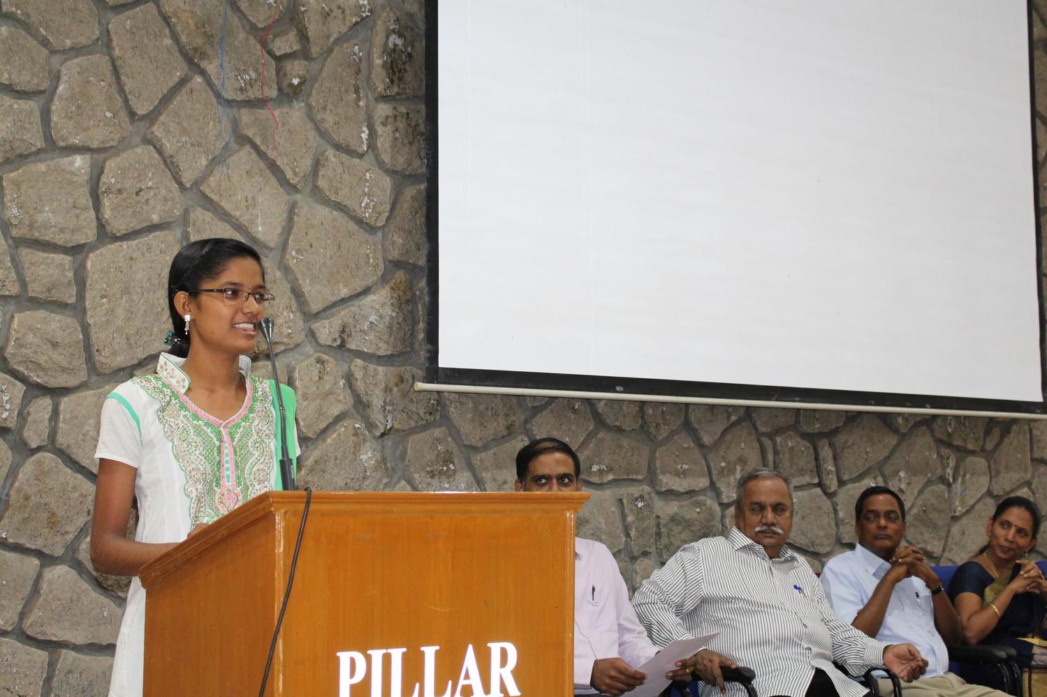 """...so fruitful were  the sessions...""  Yuva Dharani"