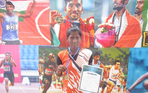 K. Kayalvizhi – XI std – 2nd Prize in Javelin Throw