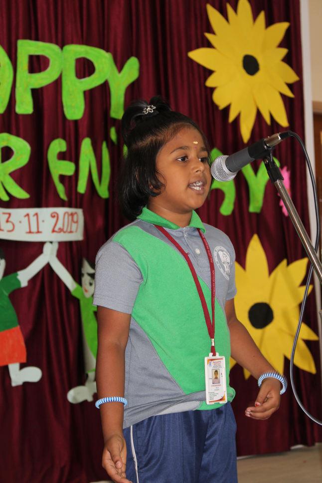 Welcome Speech by P. Padmasri - III-B