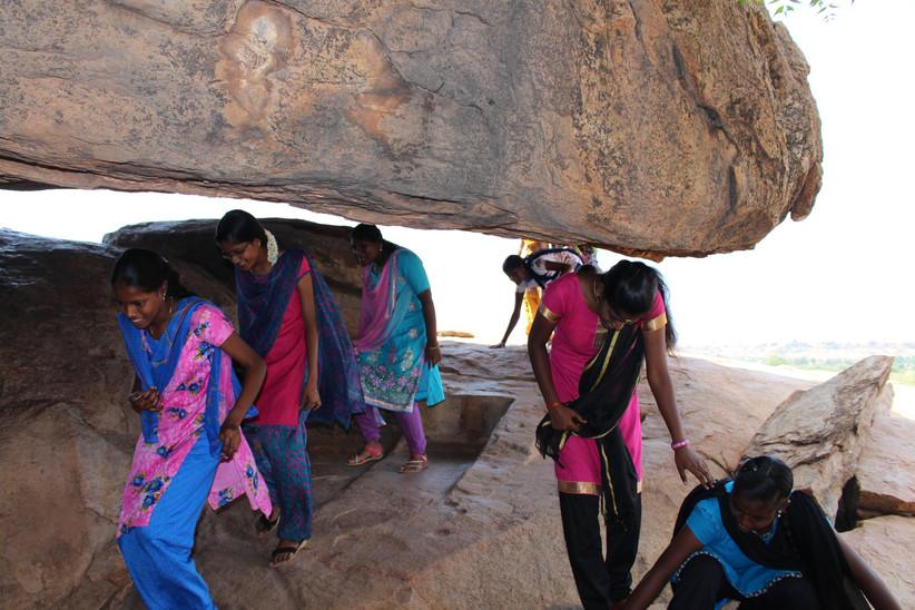 Entering Jain Cave