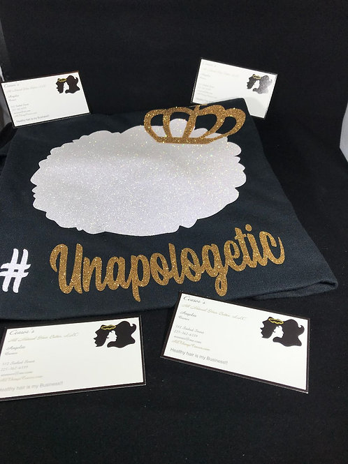 '#Unapologetic' T-Shirt (Black w/ Gold Crown)