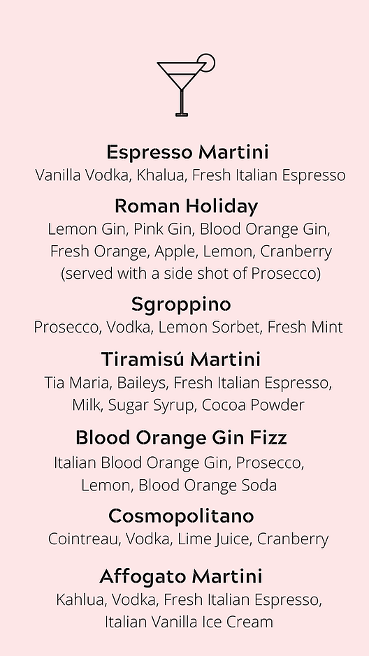 website cocktail menu 2 the italian romi