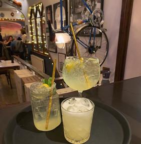 Our 3 lemon based cocktails: The Limoncello Daiquiri, a Capri Spritz and a Amaretto Sour