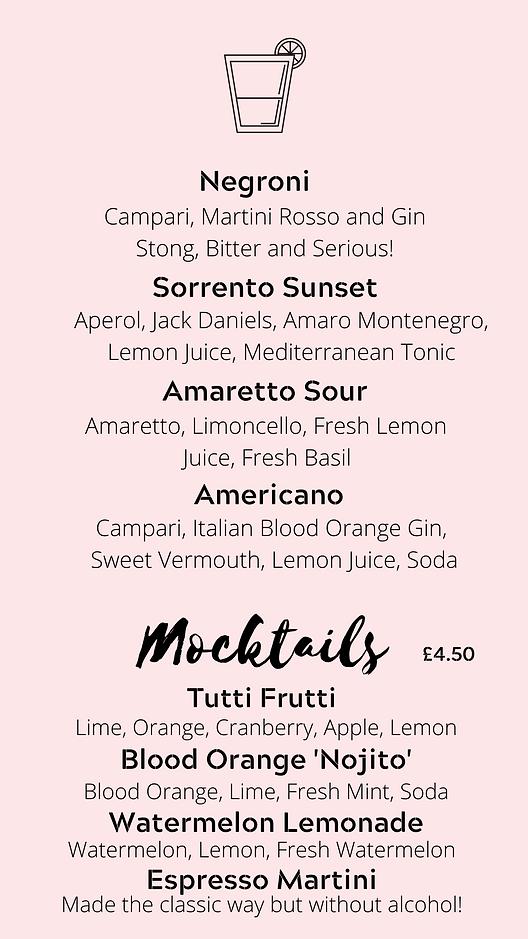 website cocktail menu 3 the italian romi