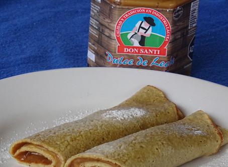 Panqueques de avena con dulce de leche Don Santi.