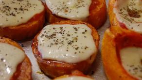 Calabacín al horno con queso Magro.