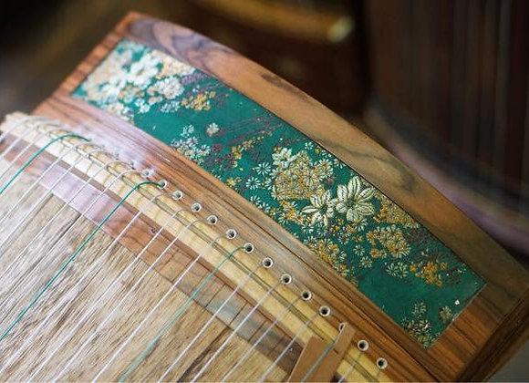 Cổ tranh (guzheng) mini 1m25 loại cao cấp hoạ tiết thêu hoa