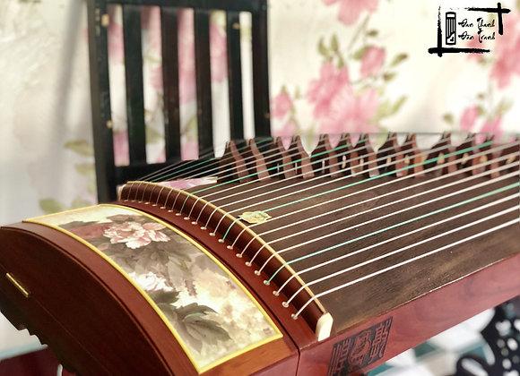 """Đàn Guzheng Đôn Hoàng hoạ tiết hoa 3D, phong cách """"Vintage"""""""