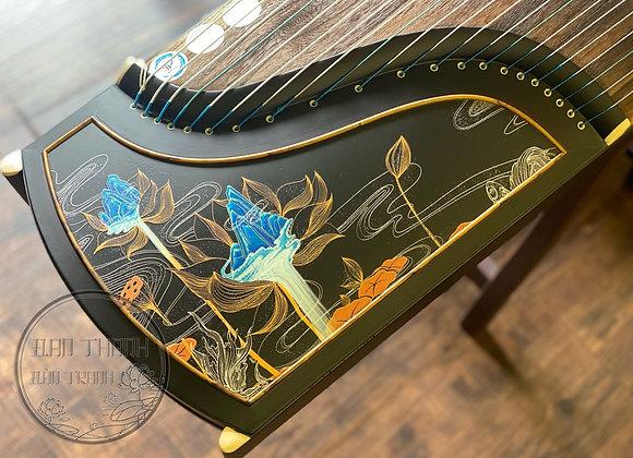 Cổ Tranh (guzheng) 1m63 fullsize loại cao cấp âm cực hay với hoạ tiết hoa sen