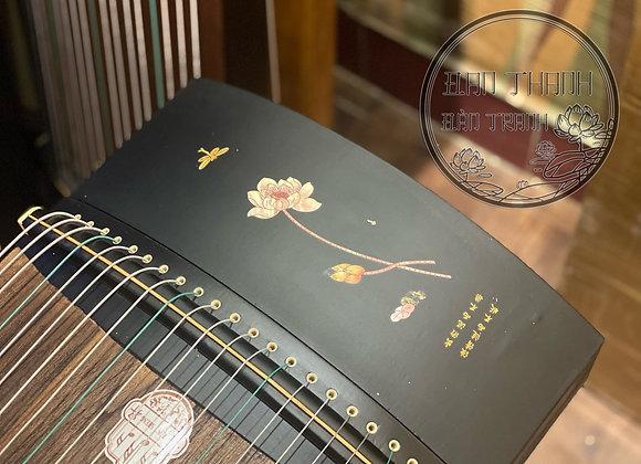 Guzheng (cổ tranh) hoạ tiết sen đơn giản loại fullsize 1m63