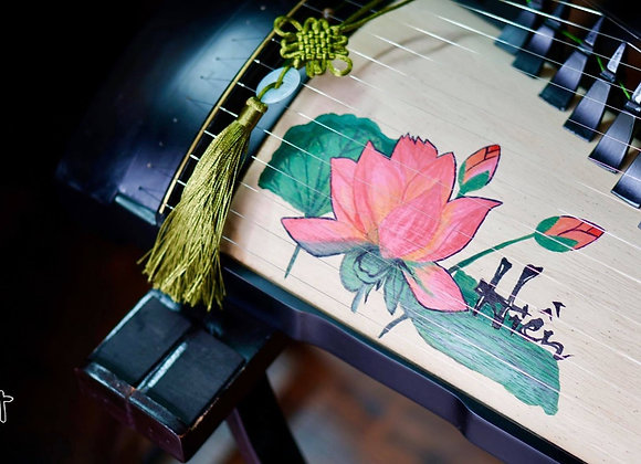 Đàn tranh Việt Nam hoạ tiết hoa sen