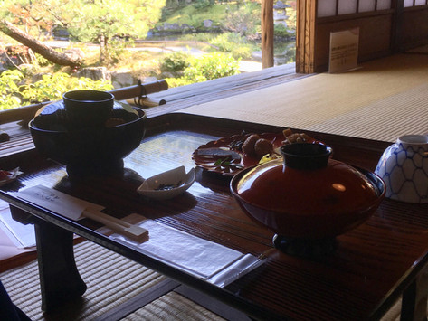 Pranzo rilassante - Isuien Garden, Nara