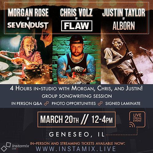 Instamix Live w/ Morgan Rose, Chris Volz, and Justin Taylor