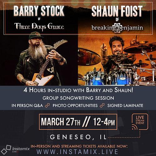 Instamix Live w/ Barry Stock & Shaun Foist