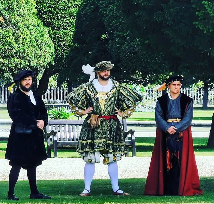 Will as Henry VIII at Hampton Court Palace