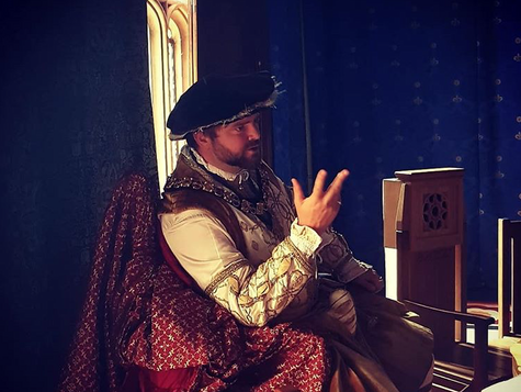 Henry VIII with his privy council