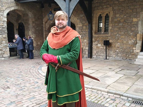 A medieval knight at the Tower of London