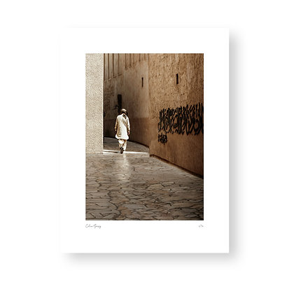 Fine Art Print Bastakiya Man by Celine