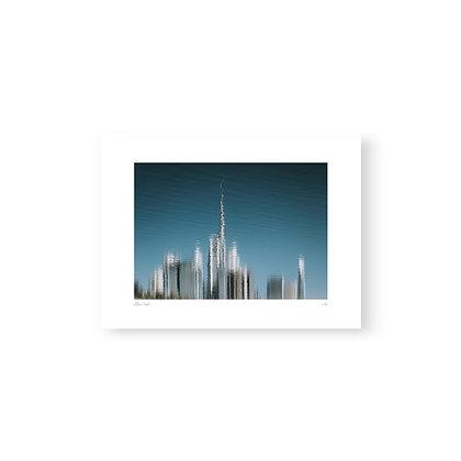 Art Print Skyline Reflection by Akemi