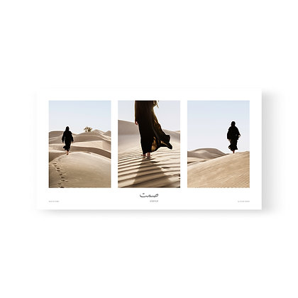 Triptych Poster Silence by Celine