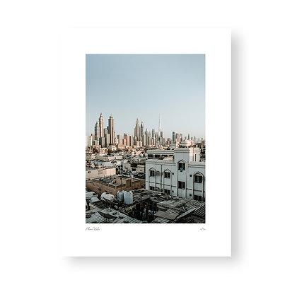 Fine Art Print Dubai Skyline by Akemi