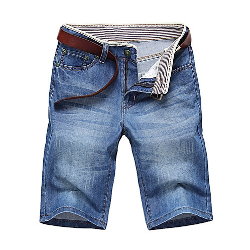 ClassDim Men's Denim Shorts Good Quality Short Jeans Men Male Blue Casual Short